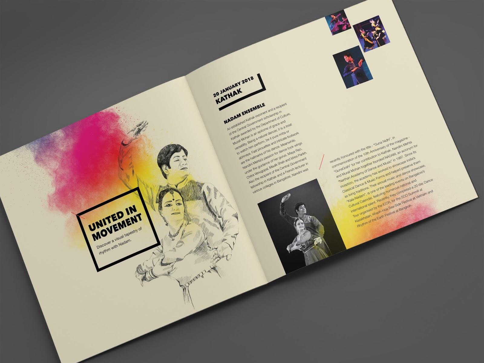 NishaGandhi Dance Festival January 2018   Brochure Mock-up - 3   Stark Communications Pvt Ltd