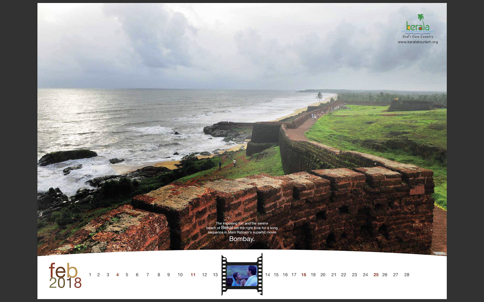 Kerala Tourism 2018 Calendar mock-up 3 | Stark Communications Pvt Ltd