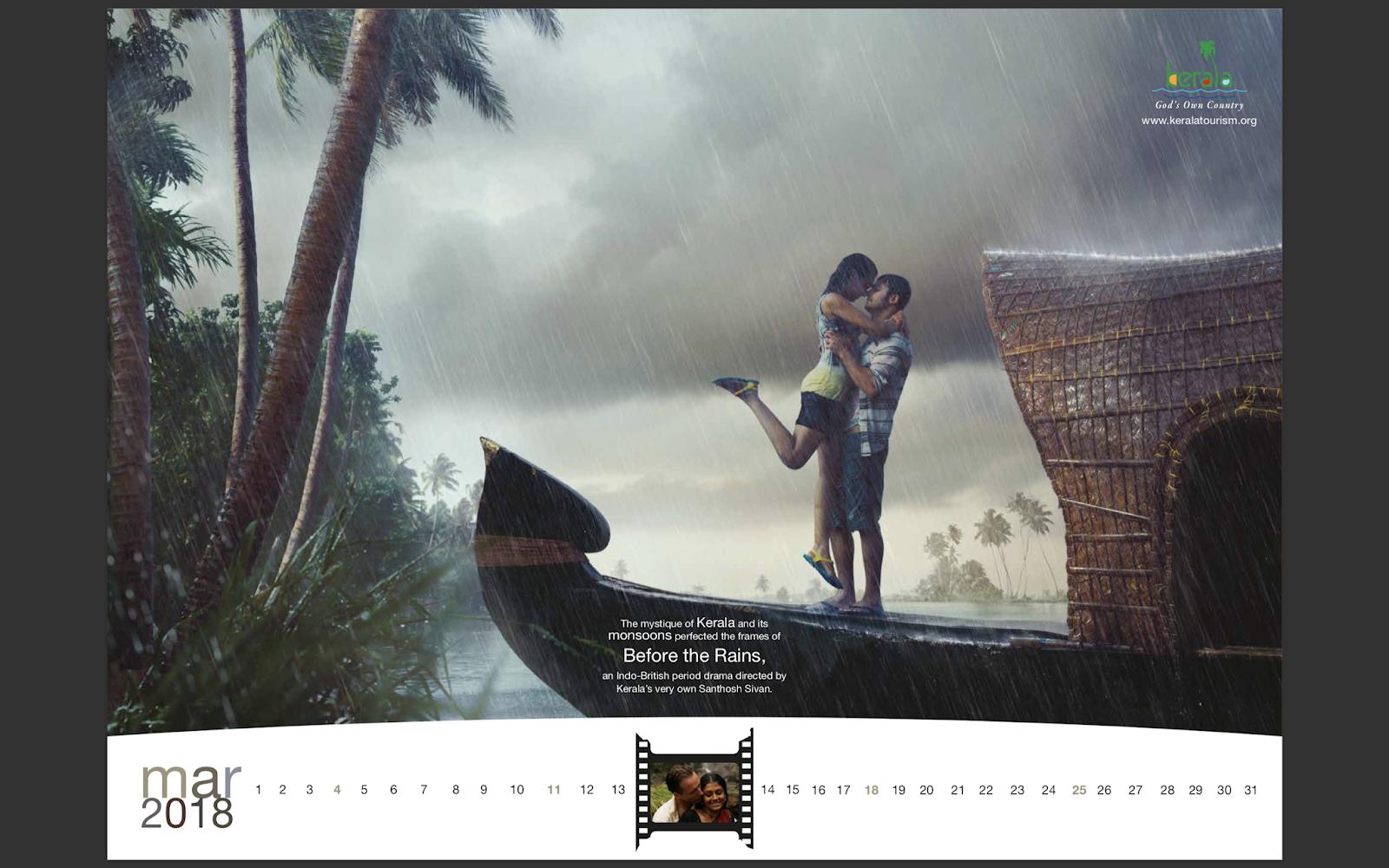 Kerala Tourism 2018 Calendar mock-up 4 | Stark Communications Pvt Ltd