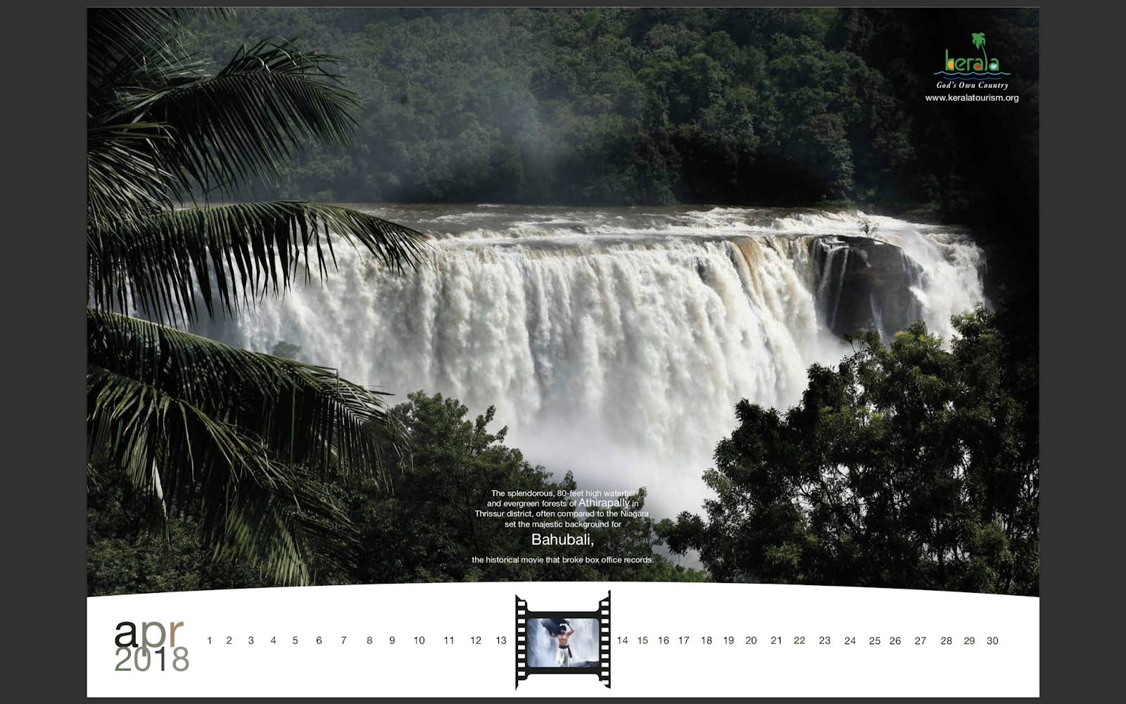 Kerala Tourism 2018 Calendar mock-up 5 | Stark Communications Pvt Ltd