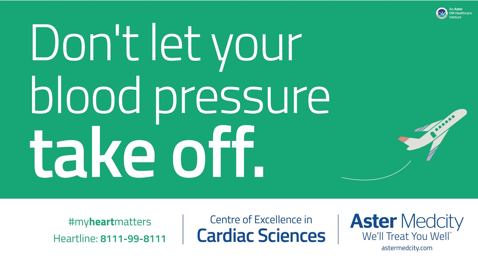 Aster Medcity - Centre of Excellance in Cardiac Science | Print mock-up 1 | Stark Communications Pvt Ltd