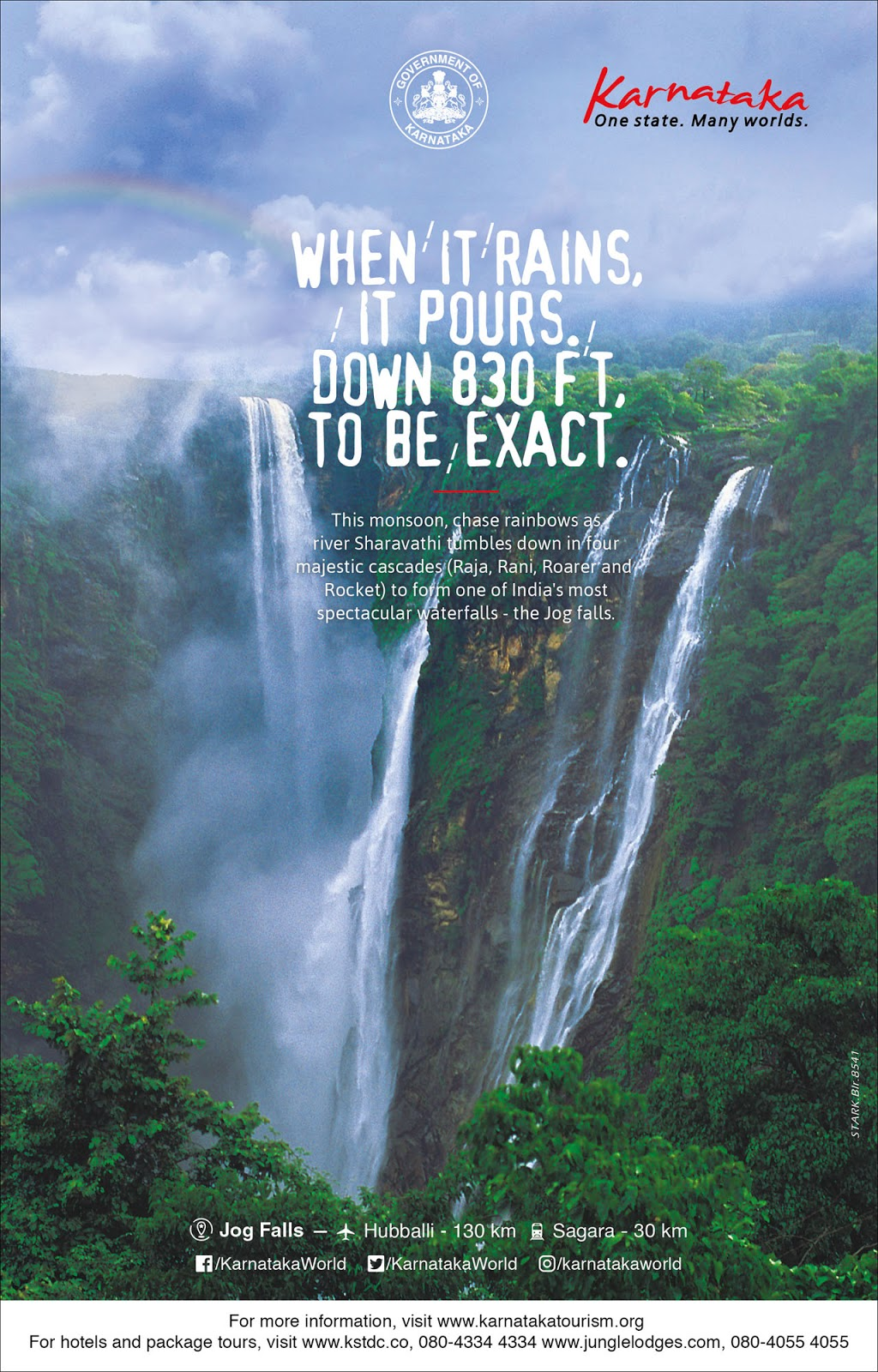 Monsoon at Jogfalls by Department of Tourism, Karnataka | Stark Communications Pvt Ltd