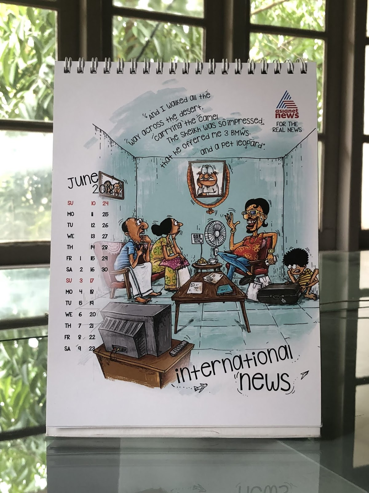 Asianet News 2018 Calendar mock-up - 3 | Stark Communications Pvt Ltd