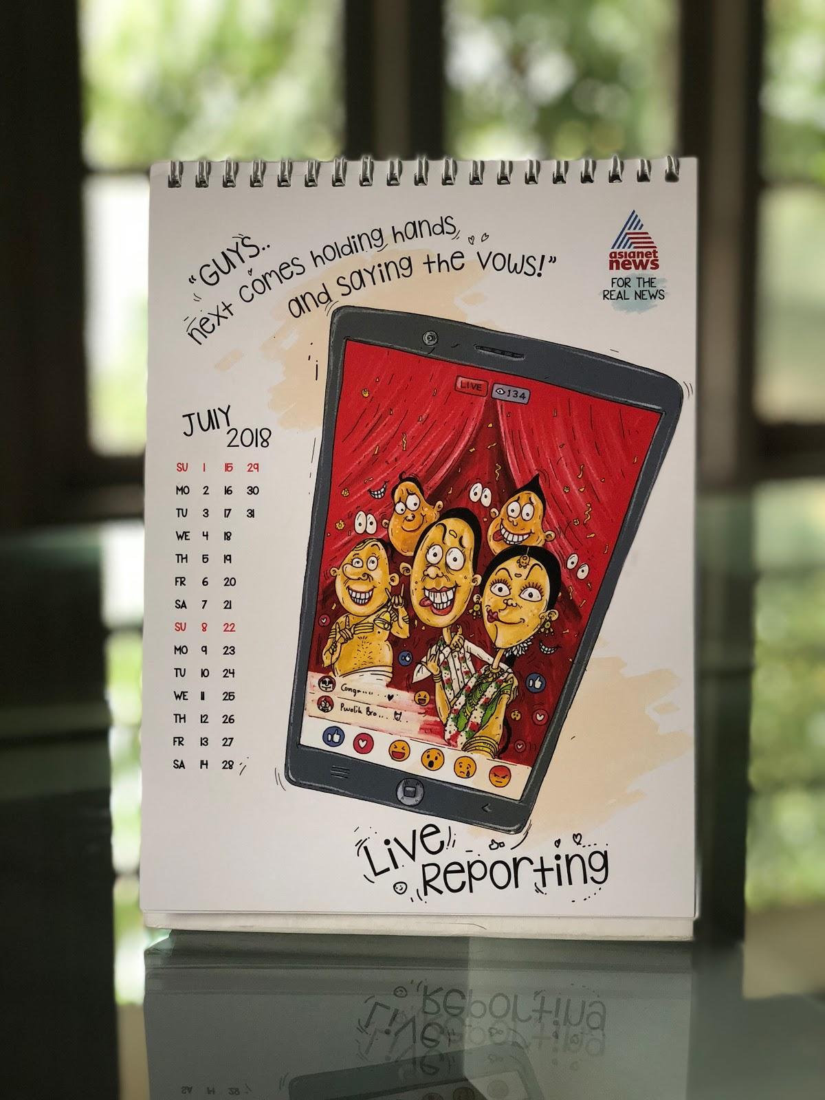 Asianet News 2018 Calendar mock-up - 1 | Stark Communications Pvt Ltd
