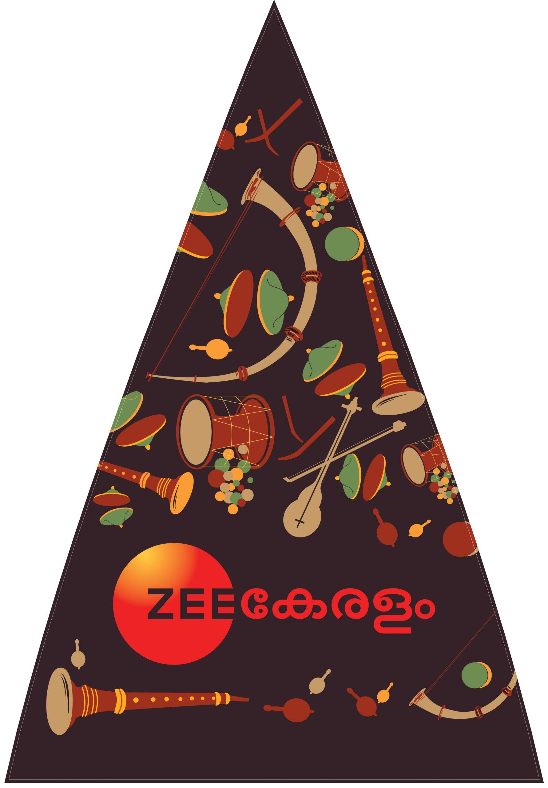 Monsoon Art Umbrella for Zee Keralam | Umbrella mock-up 3 by Stark Communications Pvt Ltd