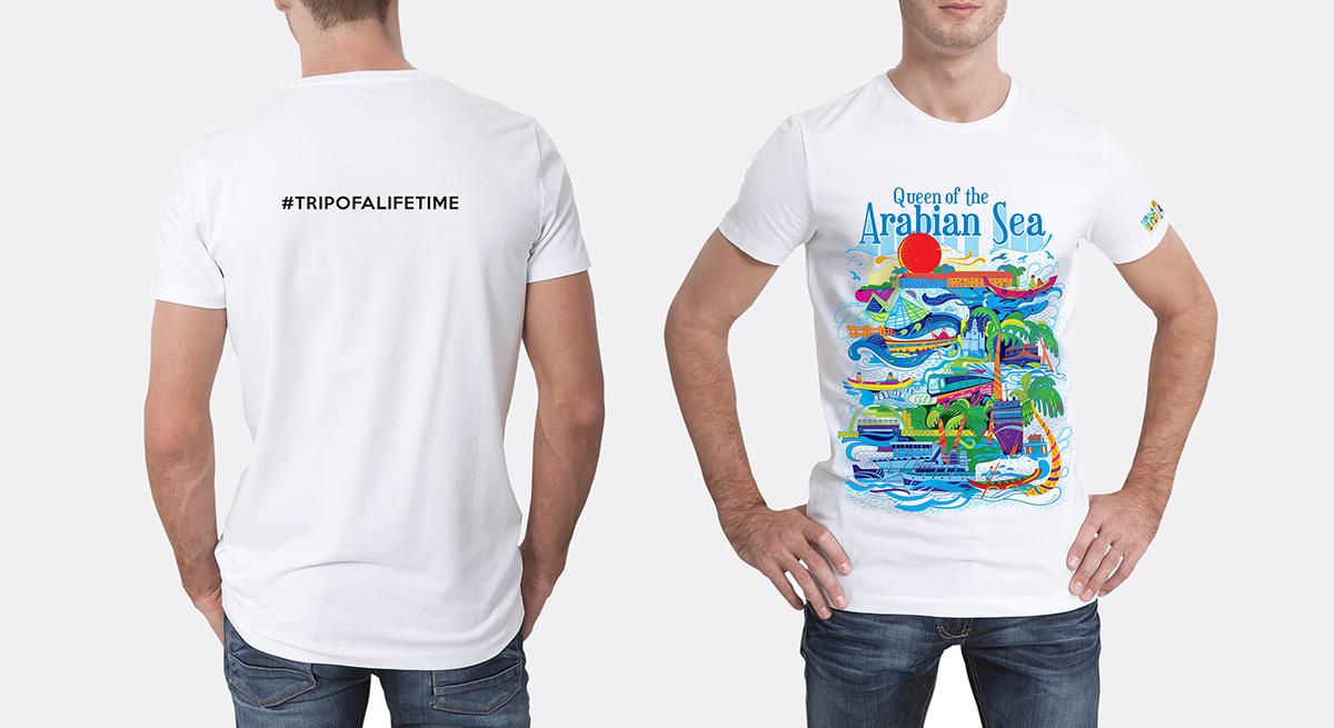 Kerala Blog Express - Trip of a Lifetime by Kerala Tourism   Queen of Arabian Sea T-shirt Branding by Stark Communications Pvt Ltd