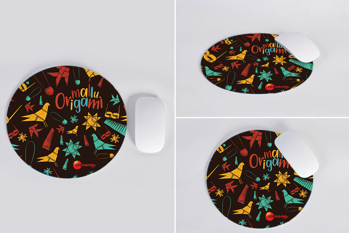 Monsoon Art Mouse Pad for Zee Keralam | Mouse pad mock-up by Stark Communications Pvt Ltd