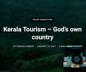 """History Behind Kerala Tourism's campaign of """"God's Own Country"""""""